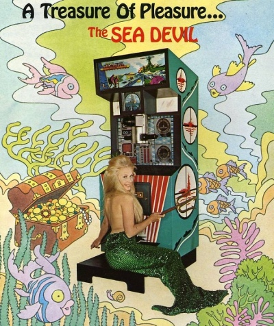 Sea Devil-arcade-flyer