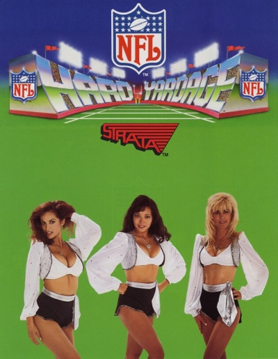 Hard Yardage-Strata-NFL-arcade-flyer
