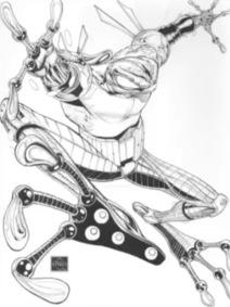 Ethan van sciver-cyberfrog blood honey-the splintering-cover-black and white
