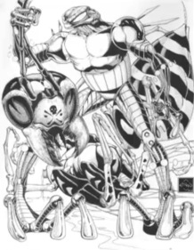 Ethan van sciver-cyberfrog blood honey-the splintering-swarm-black and white