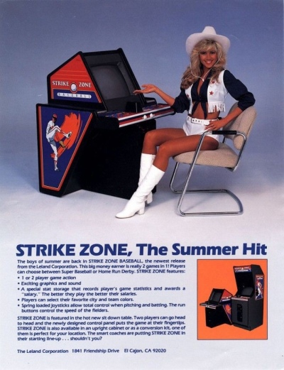 Strike Zone-dallas cowboys cheerleader-arcade-flyer