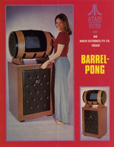 Barrel pong-arcade-flyer