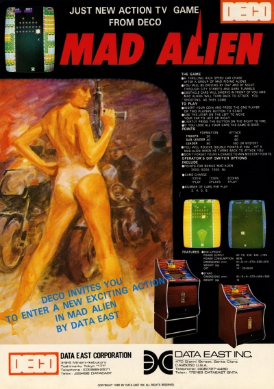 Mad Alien-Deco-data east-arcade-flyer