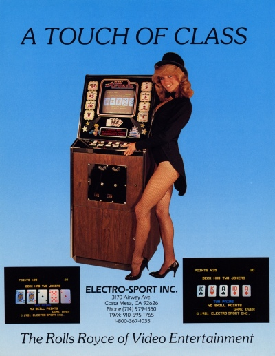 video poker-arcade-flyer