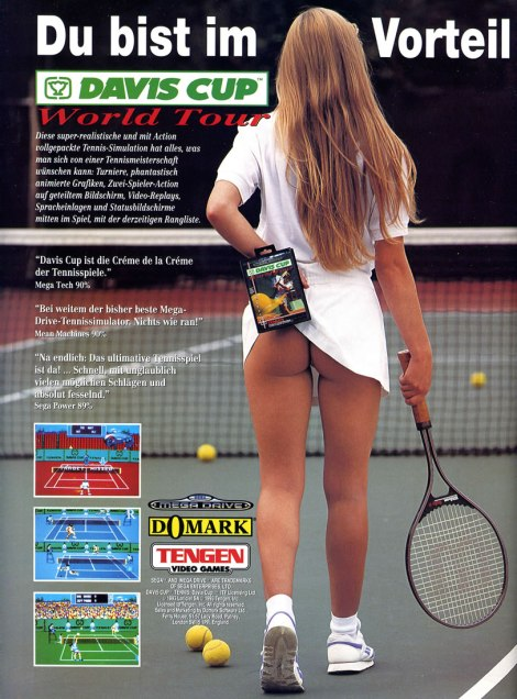 The Splintering_Cheeky gaming ads_Sega_Davis Cup Tennis_woman