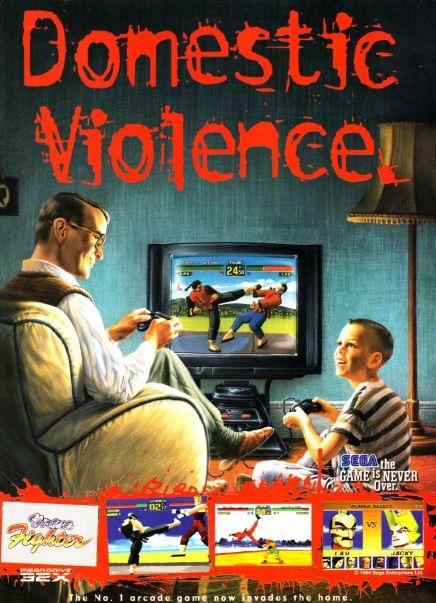The Splintering_Cheeky gaming ads_Sega_domestic violence_virtua fighter