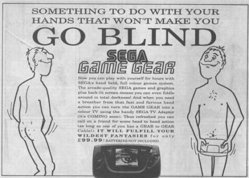 The Splintering_Cheeky gaming ads_Sega_Game Gear_go blind