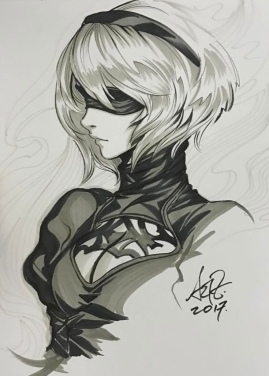 Nier Automata tops 3 million sales-the splintering-artgerm lau sketch