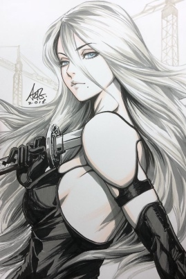 Nier Automata tops 3 million sales-the splintering-artgerm lau sketch 6