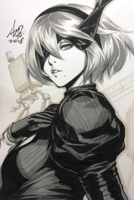 Nier Automata tops 3 million sales-the splintering-artgerm lau sketch 3