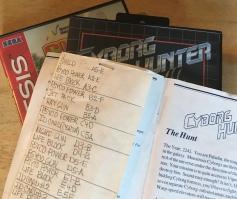 cyborg hunter_code sheet_too many games_the splintering_SEGA_master system