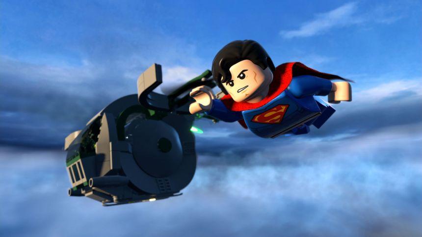 Lego Superman flying-the splintering