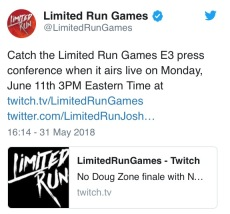 limited run games-press conference-e3 2018-the splintering-twitter