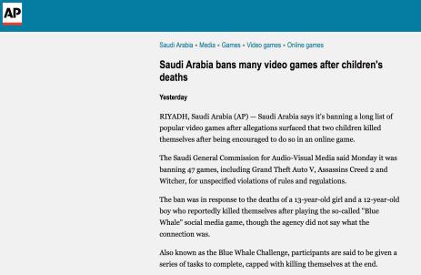 associated press-ap-saudi arabia-banned-games-list-false-the splintering