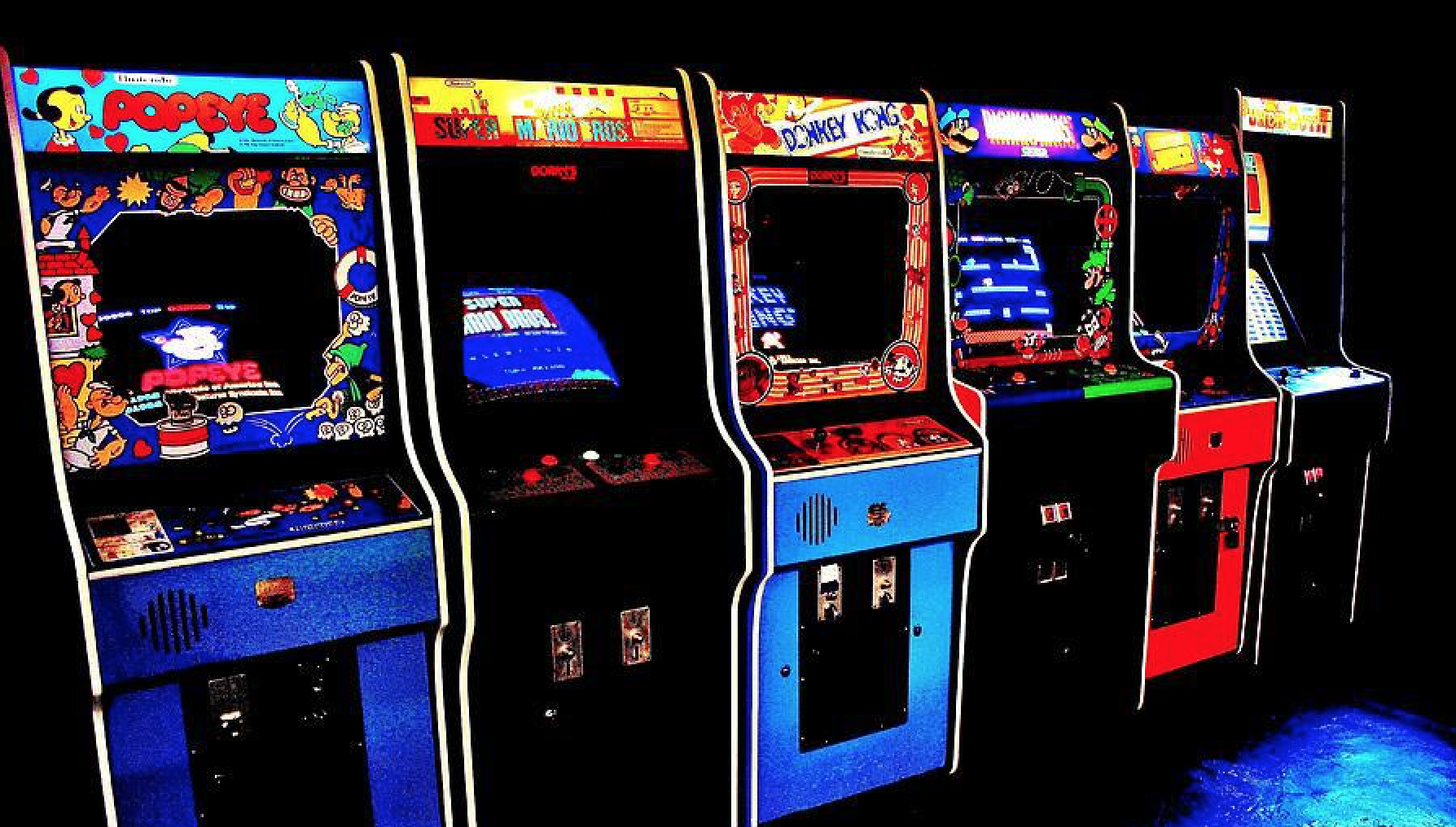 Adult arcade video games