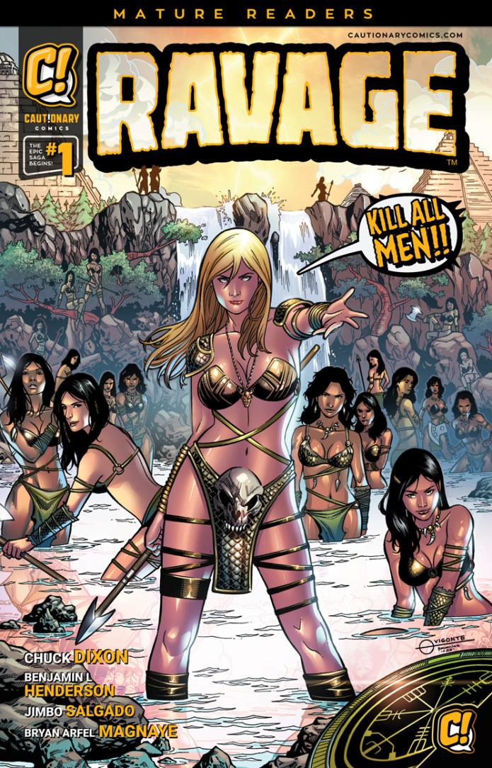 Ravage-kill all men-chuck dixon-comic-indiegogo-the splintering-cover