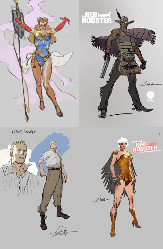 red rooster-golden age-the splintering-indiegogo-characters