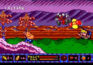 Toejam and Earl_panic on funkotron_the splintering_screenshot