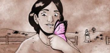Pistolera_butterfly panel_The Splintering_western_comic