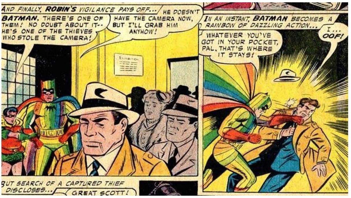 The Splintering_chomp_bites_one_off_superman_sidekick_interview_batman_rainbow_costume