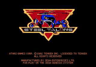 steel talons_sega_genesis_the splintering_title screen