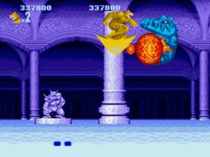 Altered_Beast_Review_SEGA_Genesis_Mega_Drive_The_Splintering_Weretiger_Kick_stage_4_boss