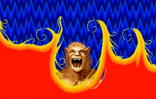 Altered_Beast_Review_SEGA_Genesis_Mega_Drive_The_Splintering_Werewolf Transformation