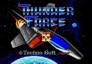 review_thunder_force_II_the_splintering_sega_genesis_mega_drive_main_title_screen
