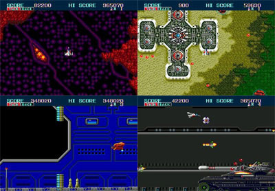 review_thunder_force_II_the_splintering_sega_genesis_mega_drive_screenshot_collage