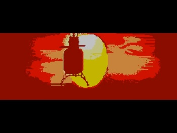 review_rambo_first_blood_part_ii_sega_master_system_the_splintering_Sunset