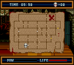 the_splintering_festival_of_dread_sega_genesis_review_splatterhouse_3_map