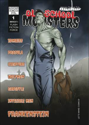 old school monsters_review_ashcan comics pub_the splintering_frankenstein_cover