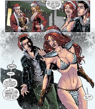 Red Sonja_holiday special_comic_book_review_jolly_jinglings_dynamite_comics_santa hat.png