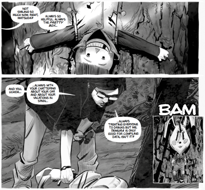 Tales from the Suicide Forest_aokigahara_the splintering_review_monochrome_may_amigo_comics_page-1