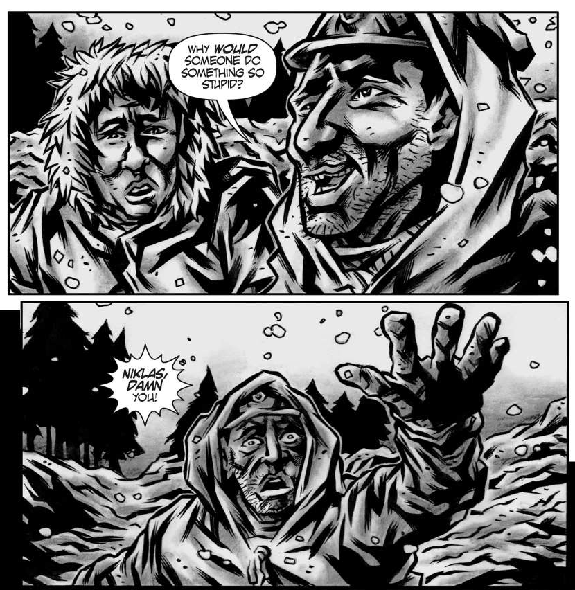 winter-war-kurt-belcher-calibur-comics-review-monochrome-may-the-splintering-art