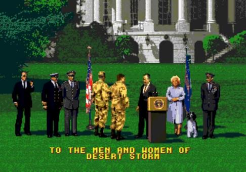 retro-gaming-review-desert-strike-return-to-the-gulf-ea-games-the-splintering-president-bush-ending